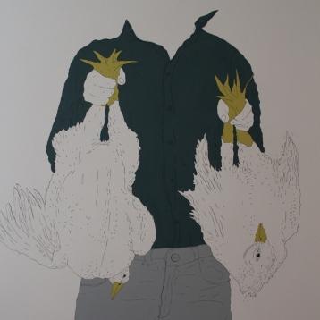 Bug_ra Erol, tuval u_zeri akrilik, 130x150 cm, 2014
